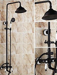 Two Handles Oil-rubbed Bronze Wall Mount  Shower Faucet