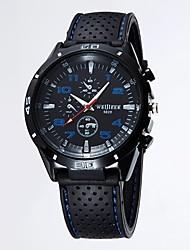 Womage Простой Спорт силиконовый ремешок часы (синий циферблат)