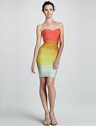 Женская телевизор Top постепенное изменение вечернее платье