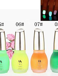 Glow polaco 1PCS Laushine luminoso noctilucentes fluorescente Nail in Dark Eco-Friendly (No.5-8, colores surtidos)