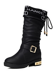 Women's Low Heel Comfort Mid-Calf Motorcycle Boots(More Colors)