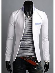 cor do contraste lon casuais manga terno dos homens zj.sm