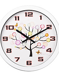 """16""""H Colorful Tree Style Metal Wall Clock"""