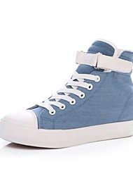 Canvas Women's Flat Heel Comfort Fashion Sneakers With Magic tape Shoes(More Colors)