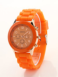 Montre de sports de silicone Cdong coréen (Orange)