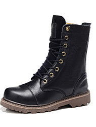 Men's Shoes Outdoor/Dress/Casual Leather Boots Black/Brown