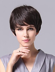 Top Quality Capless  Graceful Hairstyle Super Natural Short Curly  Human hair Wig