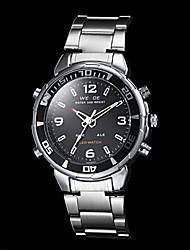 reloj de estilo de negocios dual zonas horarias banda de acero del cuarzo de los hombres weide® (colores surtidos)