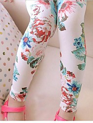 Girl's Leggings,Floral Cotton Spring