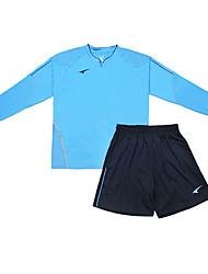 мужские футбольные длинный рукав костюмы (светло-голубой и черный / Аргентина)