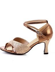 Лобо Женские танцевальная обувь (бронза)