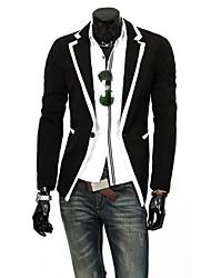 moda solapa purfle formal de chaqueta de manga larga de los hombres