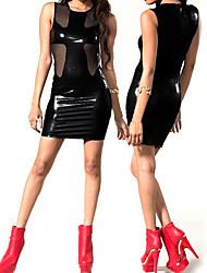 Señora Urban Gothic Negro Cuero de la PU de las mujeres del estilo SM Uniforme Sexy