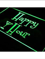 Heures i558 Happy Bar Pub OUVERT Beer Neon Light Enregistrez-vous