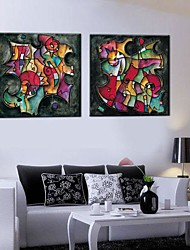 Stretched Canvas Art The Geometry Of The Abstract Set of 2