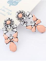pengchen pendientes de piedras preciosas de época (rosa claro)