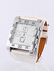 Womage Piazza classica Dial Watch (Bianco)