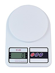 LCD Digital Kitchen Scale (3kgx1g, batterie 2xAAA)