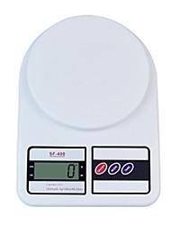 LCD Digital Kitchen Scale (3kgx1g, batterie 2xAAA)
