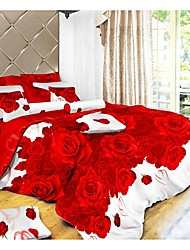 Dismier 3D Aloe Vera Cotton 4Pcs Bedding Set Serie 55