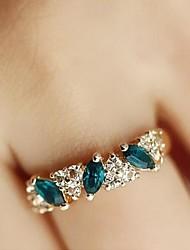 Sweet Diamond Emerald Fashion Rings