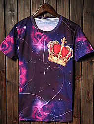 GIANNY Men'S 3D Printing Imperial Crown Pattern T-Shirts