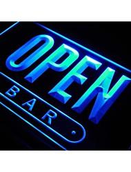 open bar sinal bebida café cerveja loja luz néon