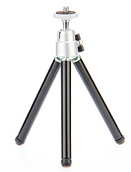 I-12-3-BK Mini Desktop Aluminum Tripod with Single-deck Three Sections (Sliver&Black)