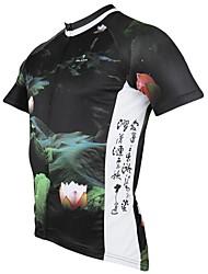 PALADIN® Camisa para Ciclismo Homens Manga Curta Moto Respirável / Secagem Rápida / Resistente Raios UltravioletaCamisa/Fietsshirt /