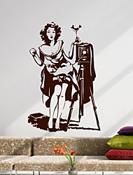 People Retro Beauty Photography Decoration Wall Stickers