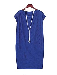 Women's Cowl Dress , Rayon Blue/Black Sexy/Bodycon/Beach/Casual/Party/Work