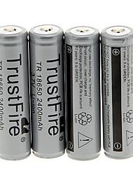 TrustFire 2400mAh 18650 (4 pcs) com proteção de sobrecarga