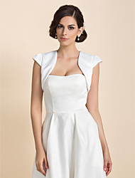 Wedding  Wraps Shrugs Short Sleeve Satin As Picture Shown Wedding / Party/Evening Open Front