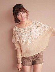 New Summer vivi Japanese Crochet Lace Cover Crescent Pattern Sweater