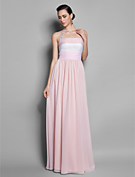 Formal Evening / Prom / Military Ball Dress - Multi-color Plus Sizes / Petite Sheath/Column Halter Floor-length Chiffon