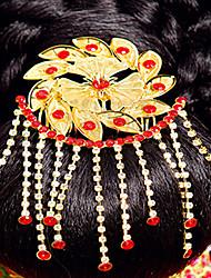 elegante tocado de oro chino para bodas