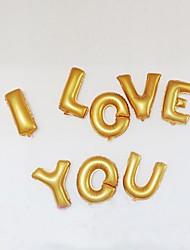 14 pollici Oro e Argento Lettera Foil Balloons AZ per la cerimonia nuziale festa di compleanno