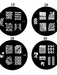 1PCS Nail Art Stamp Estamparia Imagem Modelo Placa M Series NO.1 (cores sortidas)
