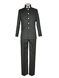 Inspired by Kuroko no Basket Midorima Shintaro Anime Cosplay Costumes School Uniforms Solid Black Top / Pants