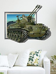 3D The Tanks Wall Stickers Wall Decals