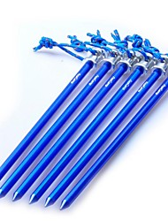 Clavijas clavo de aluminio para la tienda de campaña al aire libre Accesorios 230mm Deep Blue (6 Piezas Pack)