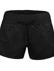 Women's Polyester Black Surf Beach Short