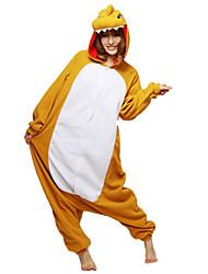 Kigurumi Pijamas Dinossauro Malha Collant/Pijama Macacão Festival/Celebração Pijamas Animal Amarelo Miscelânea Lã Polar Kigurumi Para