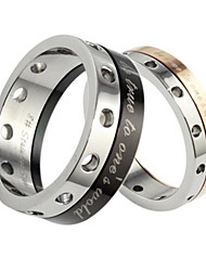 Fashion Can Turn Titanium Material Couples Ring