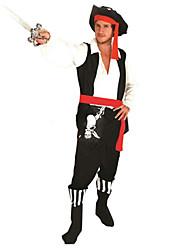 Costumes de Cosplay / Costume de Soirée Pirate Fête / Célébration Déguisement Halloween Rouge/noir MosaïqueHaut / Pantalon / Ceinture /