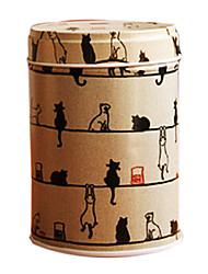 Двухслойной Железный чай Caddy с милой мультфильм шаблон, L6cm х W6cm х H9cm