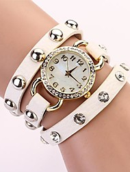 C&D Fashion Punk Stylish Watch Leather Bracelet Shell Rivet Quartz Wrist watch XK-147