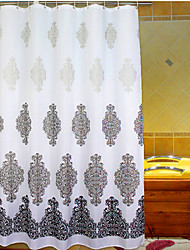 """rideau de douche, de style baroque fleur gris impression tissu épais w71 résistant à l'eau """"x l78"""""""
