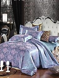 4-Piece Fashion Beauty - beige Jacquard Polyester Duvet Cover Set  MHDM03