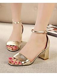 tacones gruesos del ante de las mujeres shimandi bloquean la correa del tobillo del talón zapatos de las sandalias clásicas (más colores)